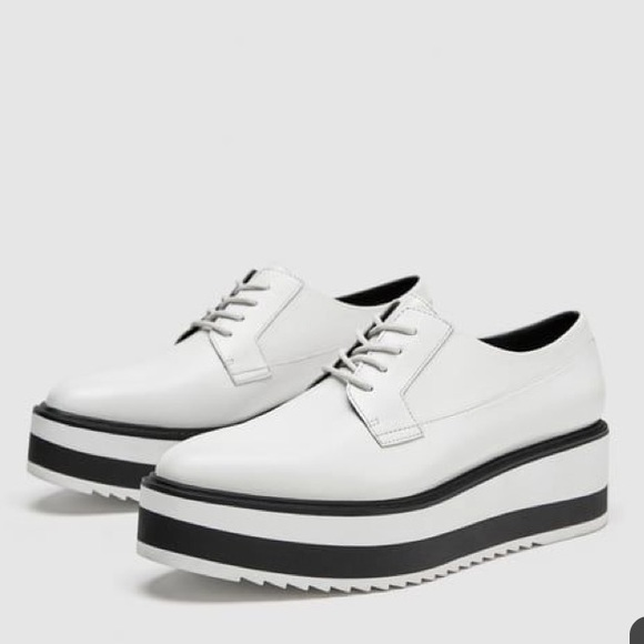 white oxford platform shoes